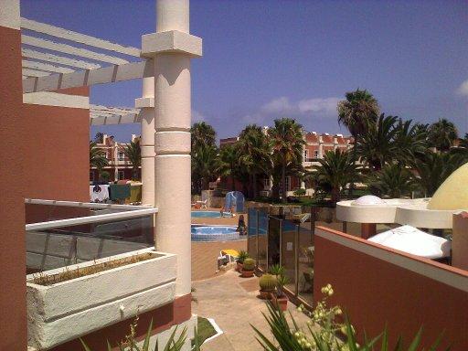 View from the balcony in Feurteventura