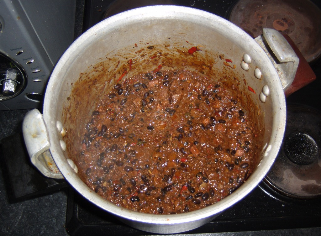 Chilli step eight - all cooked out